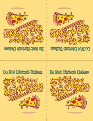 Printable Do Not Disturb Table Tents