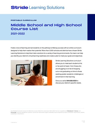 Portable Curriculum Course List