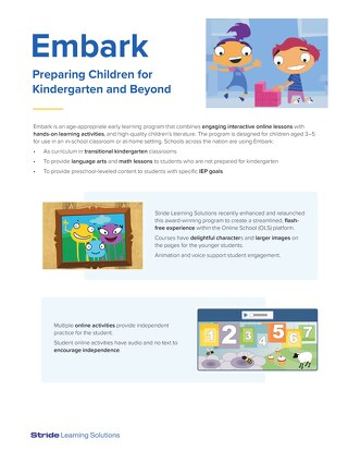 Embark Pre-K Curriculum