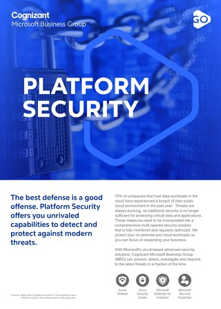 Cognizant MBG GO Platform Security 2021 Flyer
