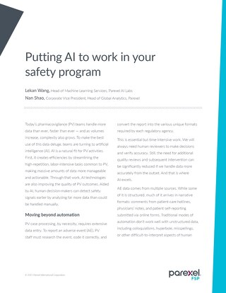 Putting AI to Work in Your Safety Program