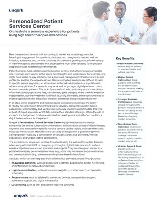 Personalized Patient Services Center