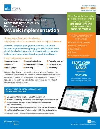 Dynamics 365 Business Central: 8-Week Implementation