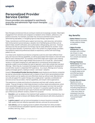 Personalized Provider Service Center for Life Sciences