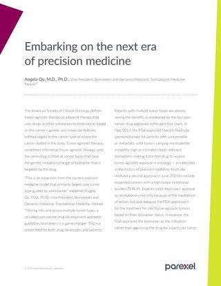Embarking on the Next Era of Precision Medicine