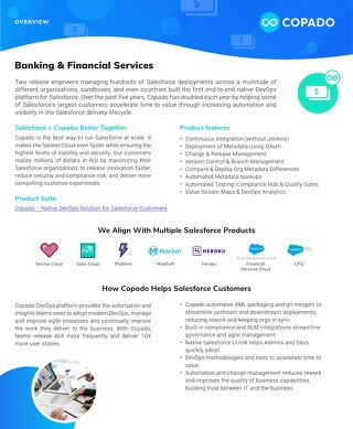 Copado for Banking Datasheet