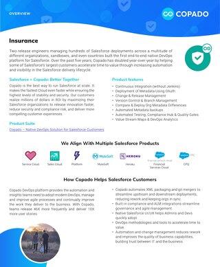 Copado for Insurance Datasheet