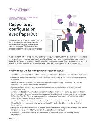 Best Practices Reporting Configuration en Français