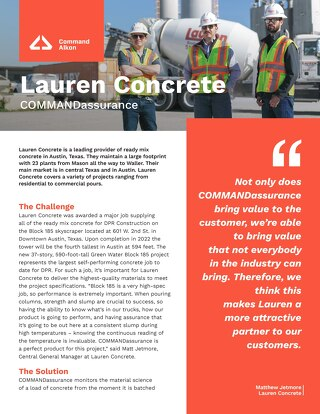 Lauren Concrete COMMANDassurance Case Study