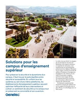 Solutions pour les campus d'enseignement supérieur