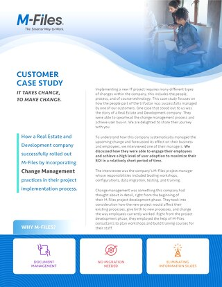 Case Study: Change Management - It takes change, to make change.
