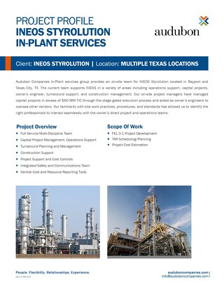 INEOS Styrolution In-Plant Services