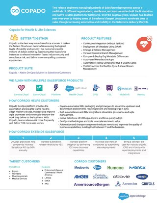 Copado for Health & Life Sciences Overview for AppExchange