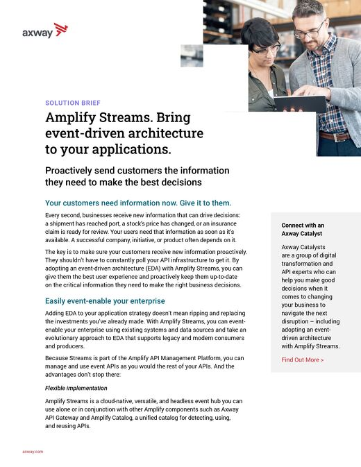 Amplify Streams. Bring event-driven architecture to your applications.