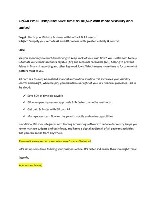 AP/AR Email Template: Save time on AR/AP with more visibility and control