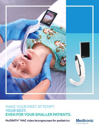McGRATH™ MAC video laryngoscope for pediatrics