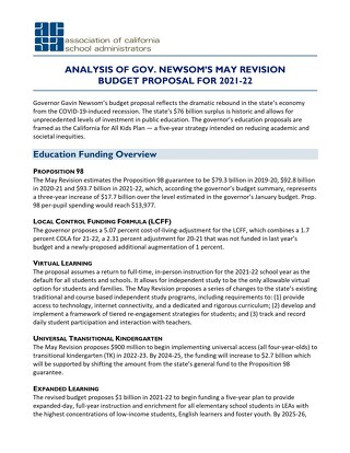 2021-22 May Budget Revision Analysis