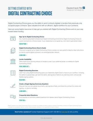 Digital Contracting Choice Starter Kit