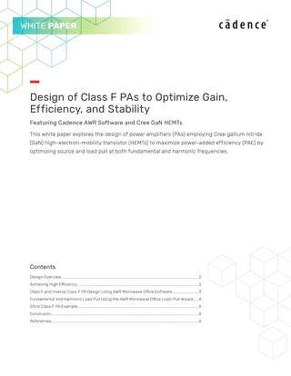 Design of Class F PAs to Optimize Gain, Efficiency, and Stability