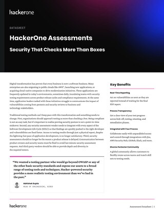 HackerOne Security Assessments