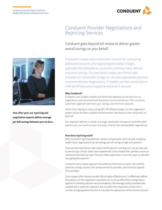 Conduent Provider Negotiations and Repricing Services
