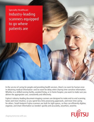 Specialty Healthcare Industry Leading Scanners - Fujitsu