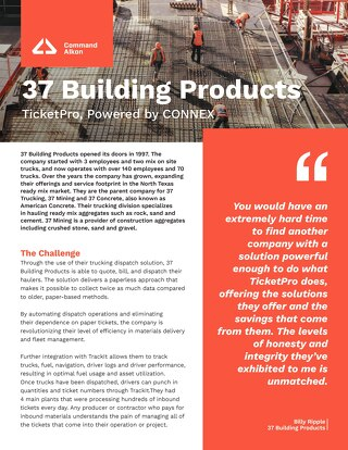 37 Building Products TicketPro Case Study