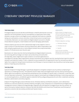 CYBERARK ENDPOINT PRIVILEGE MANAGER