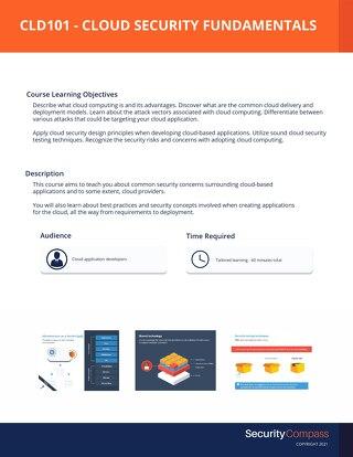 CLD101 - Cloud Security Fundamentals