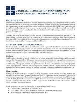 ACSA WEP/GPO Background