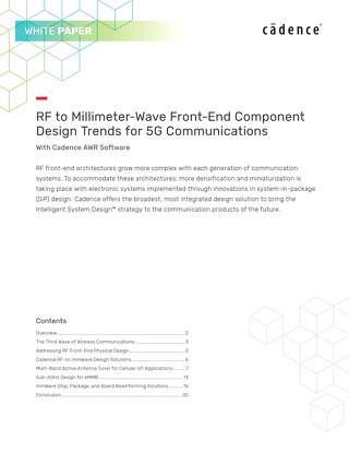 RF to Millimeter-Wave Front-End Component Design Trends for 5G Communications