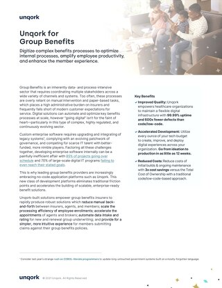 Industry Brief: Unqork for Group Benefits