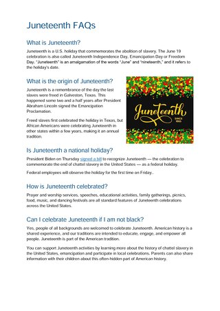 Juneteenth FAQs 2021.doc