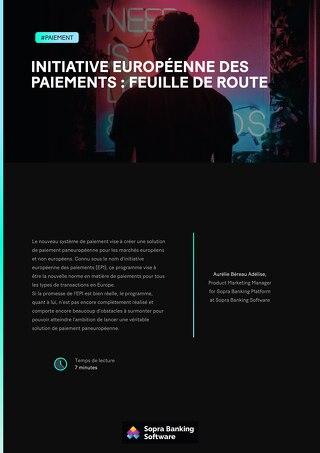 Initiative européenne des paiements : feuille de route