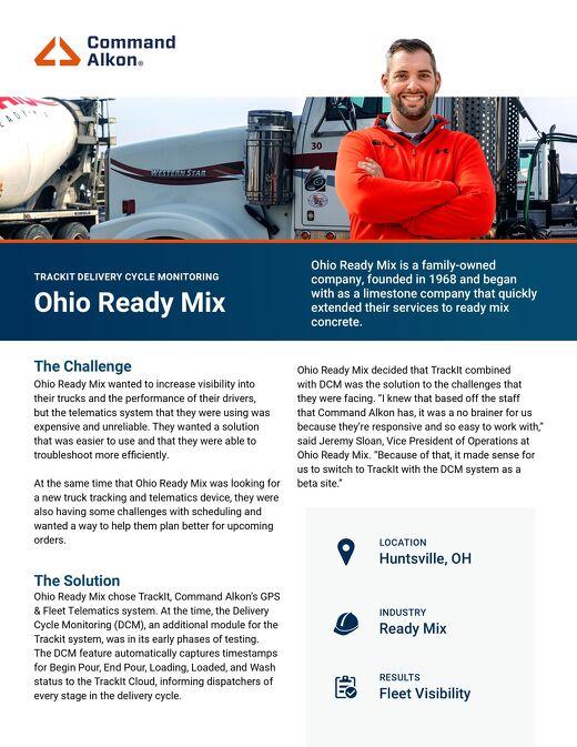 Ohio Ready Mix TrackIt Case Study
