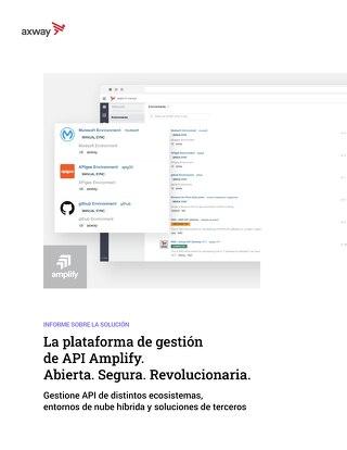 La plataforma de gestión de API Amplify. Abierta. Segura. Revolucionaria.