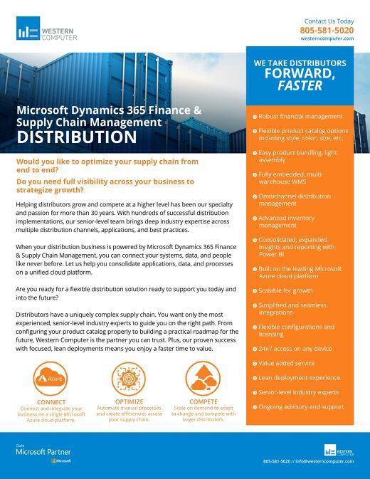 Dynamics 365 for Distributors