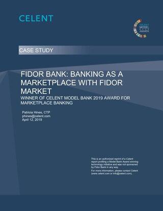 Fidor Bank Celent Model Bank Marketplace