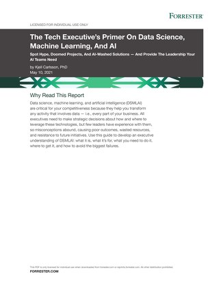 The Tech Executive's Primer On Data Science, Machine Learning, And AI