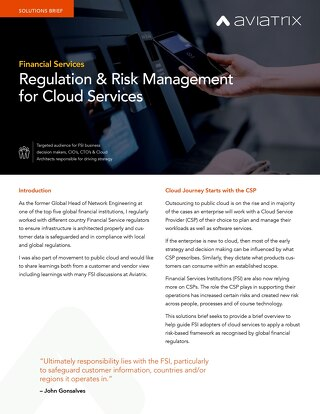 Financial Services Solutions Brief