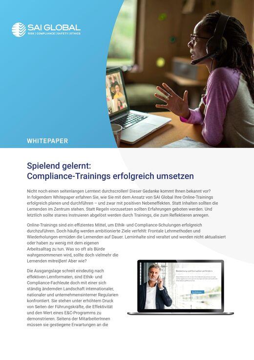 Spielend gelernt: Compliance-Trainings erfolgreich umsetzen