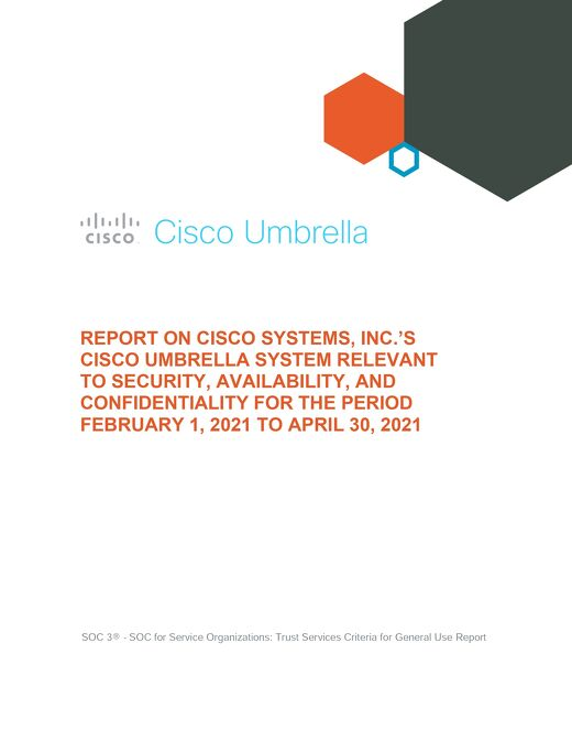 Cisco Umbrella SOC 3 Report