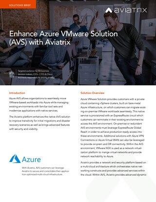 Azure AVS Solution Brief
