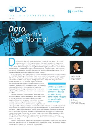 IDC in Conversation: Data, the Core of the New Normal