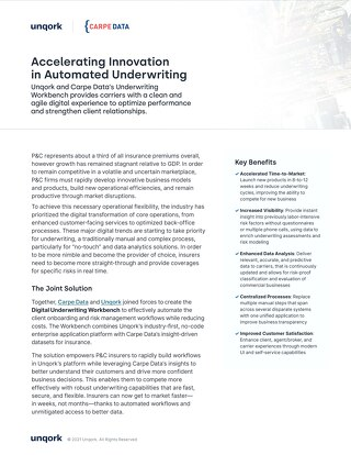 Unqork + Carpe Data: Accelerating Innovation in Automated Underwriting