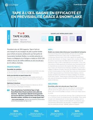 Tape à l'œil  gagne en efficacité et en prévisibilité grâce à Snowflake