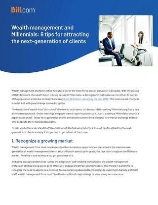 Wealth Management and Millenials