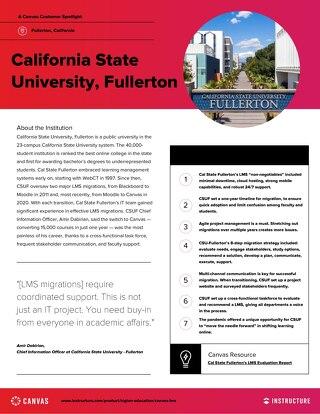 California State Fullerton Customer Spotlight