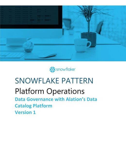 Snowflake Patterns - Platform Operations - Snowcase Integration Pattern Version 1