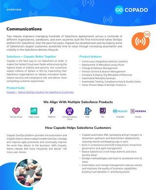 Copado for Communications Datasheet